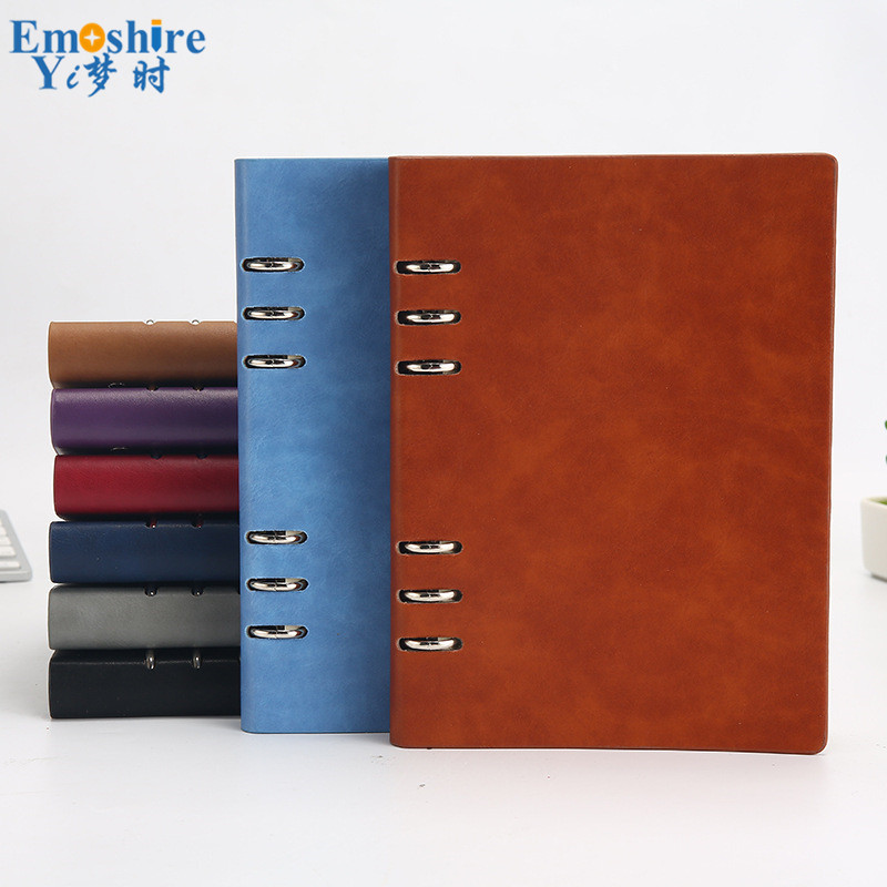 Top A5 Loose-leaf Brand Notebook Custom B5 PU Leather Creative Hollow Note Book A6 Hole Business Office Simple Notepad N178 mirui small fresh loose leaf notebook korea simple b5 coil detachable refill student notebook a5 book a4