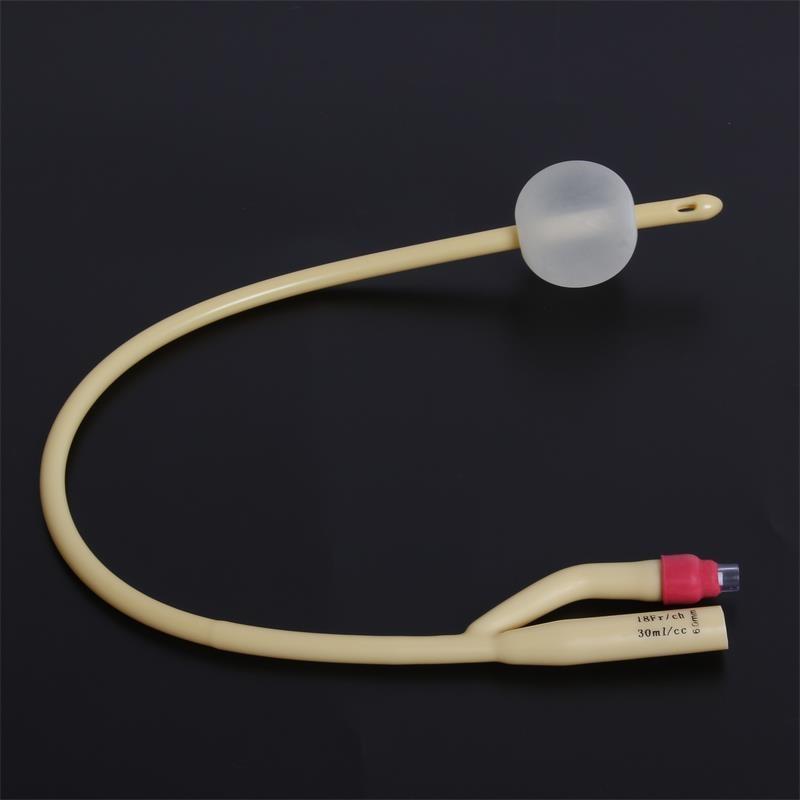 10pcs Latex Foley Catheter 2 Way Silicone Coated Plastic Valve Urology Penis Urethral Catheter Sizes Fr6 -Fr24  CE And FDA