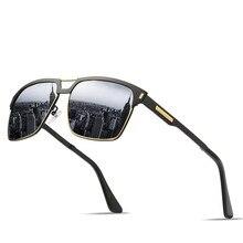 Brand designer design new sunglasses mens polarized square male driver driving mirror glasses UV400