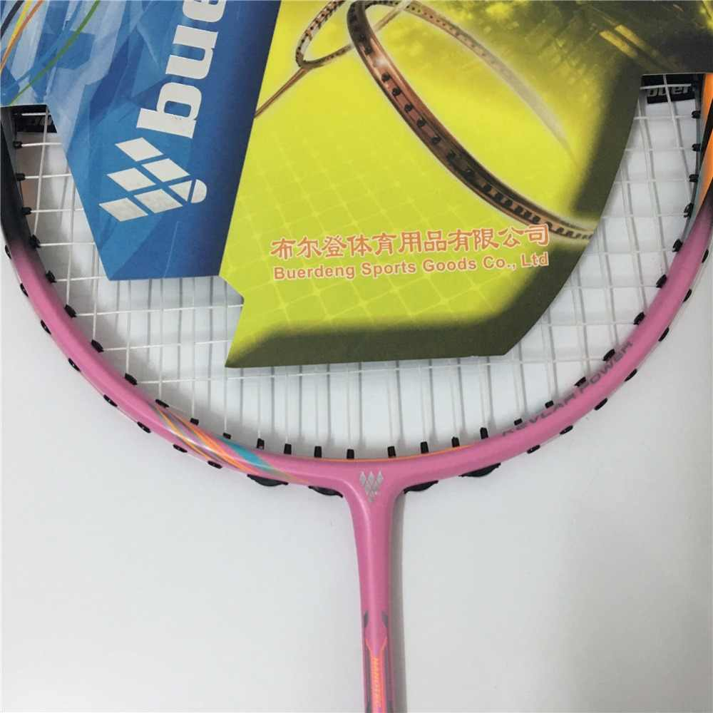 Professional badminton racket for women 4U Max 30Lbs badminton racket pink color racket as gift