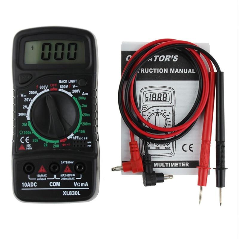 Digital LCD Multimeter XL-830L Voltmeter Amperemeter AC/DC/OHM Volt Strom Tester