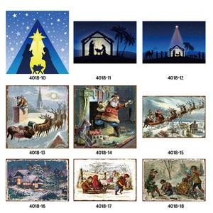 Image 1 - Feliz Natal Papai Noel Presente Alce Windbells Esqui Batismo Retro Placas de Lata de Metal Arte Da Parede Home Decor Poster Ferro para bar Pub