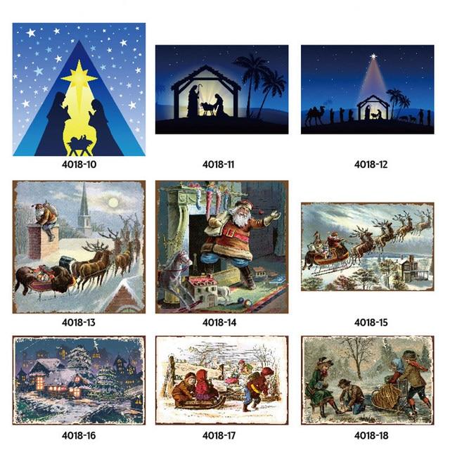 Merry Christmas Santa Claus Elk Gift Windbells Skiing Baptism Retro Metal Tin Signs Home Wall Art Decor Iron Poster for Bar Pub