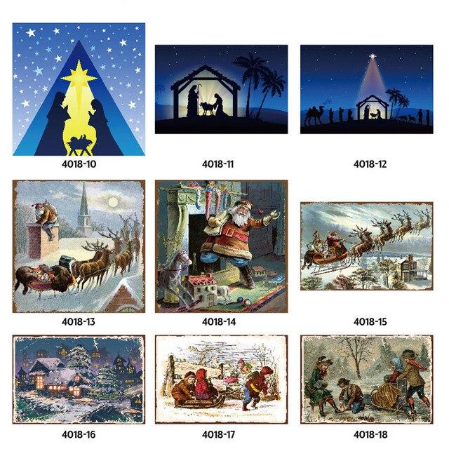Merry Christmas noel Baba Elk Hediye Windbells Kayak Vaftiz Retro Metal Teneke Işaretleri Ev Duvar sanat dekoru Demir Poster için Bar pub