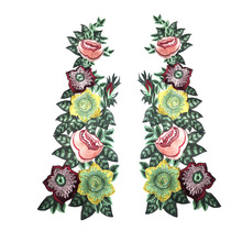 Superior Quality Flower Embroidered Patches for Clothes Applique Sticker on Clothing Lace Dress Badges Applications Stripes
