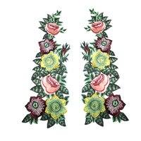 Wysoka Jakość Kwiat Haftowane Patche na Ubrania Aplikacja Naklejki na Odzież Lace Dress Odznaki Aplikacji Paski