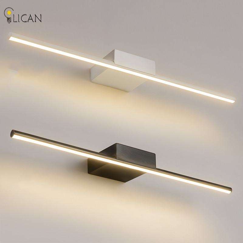 Modern Mirror Lights Anti-fog LED Bathroom lights Mirror wall lamp dressing table/toilet/bathroom lamp White Black Wall sconces optional shipping costs fog proof led mirror lights dressing table toilet bathroom mirror front lamp ac85 265 12w 60cm