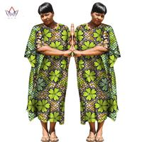 2017 African Dashiki African Dresses Casual Straight Split Printing African Print Cotton Clothing Chemise Africaine Femme