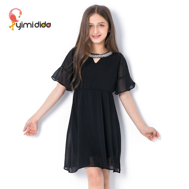 Lace Elegant Dresses For Girls Summer Sequin Dress Princess Party