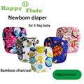 Feliz Flauta 10 unids imprime navidad nave al azar ombligo ajuste <3 kg bebé recién nacido pañal de tela