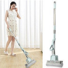 1pcs Stainless SteelTelescopic Handle Absorbent Sponge Mop Home Floor Cleaning Tool Easy to clean mop+1 PCS Glue Cotton Head