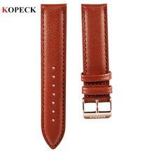 Top Brand Luxury Kopeck Watch Strap 18mm Fashion Men Genuine Leather Strap Belts Pin Buckle Women Watchband 20mm Watch Band 2017