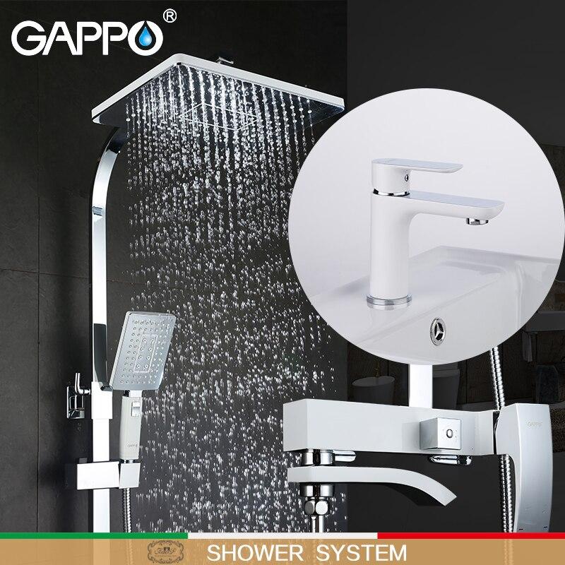 GAPPO white Bathtub Faucets bath tub mixer waterfall bath faucets basin faucet brass basin mixer taps