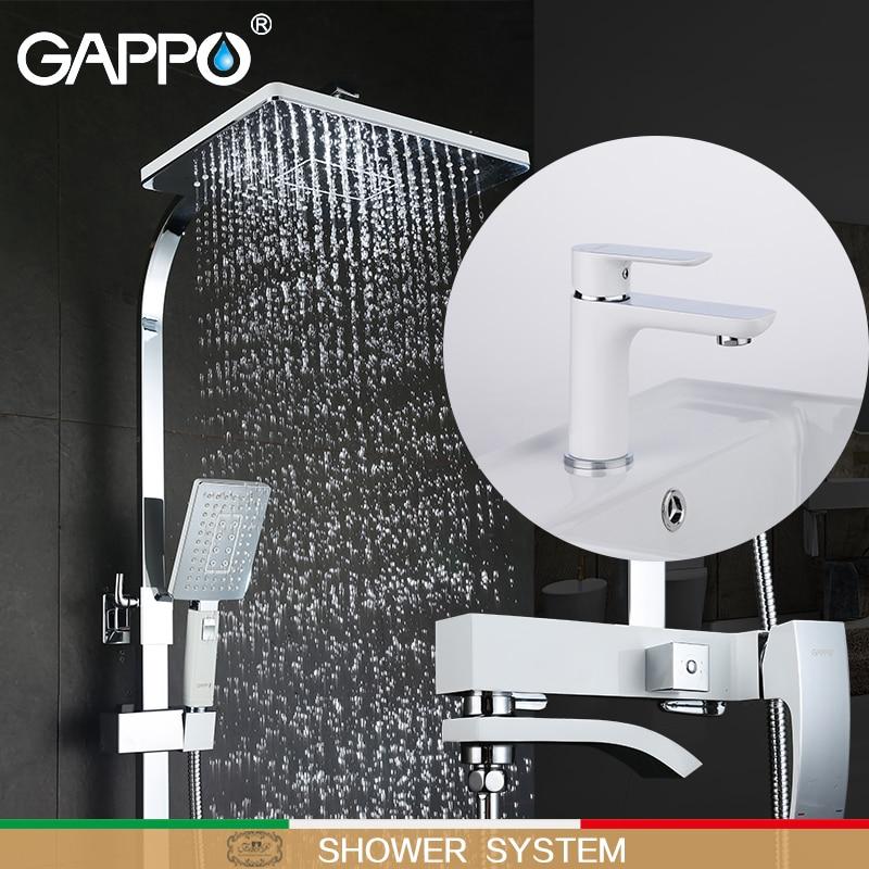 GAPPO white Bathtub Faucets bath tub mixer waterfall bath faucets basin faucet brass basin mixer taps shower system