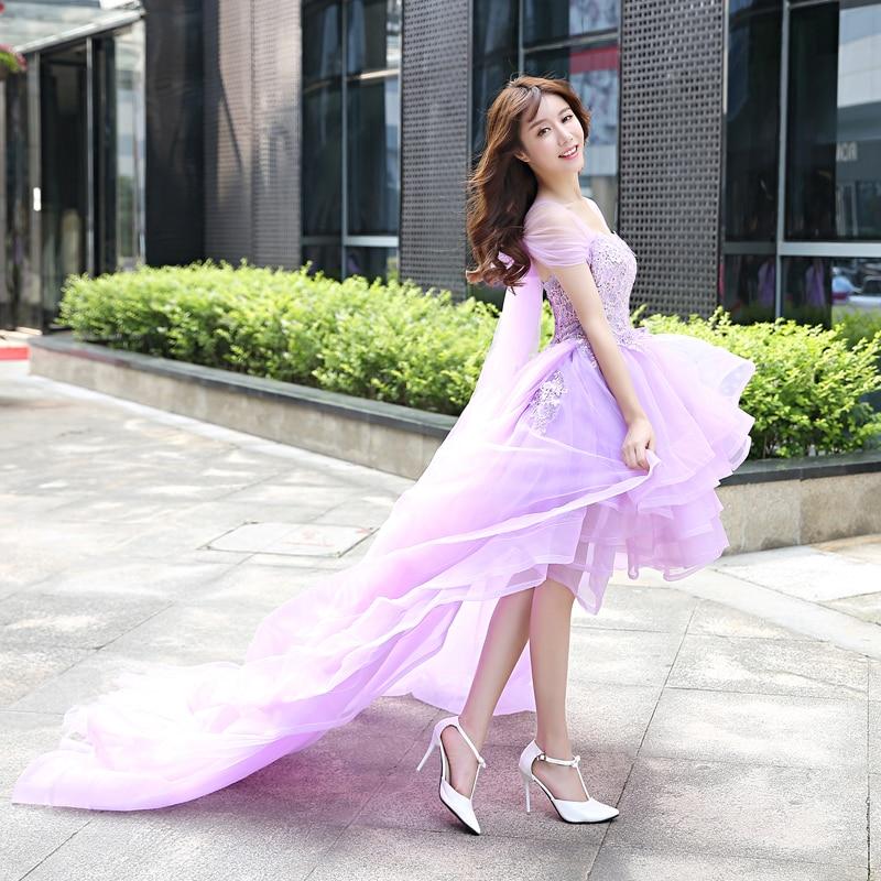 Mère fille filles robe de mariée robe de bal dentelle bal violet maman et moi vêtements floral tutu jupe famille correspondant tenues - 3