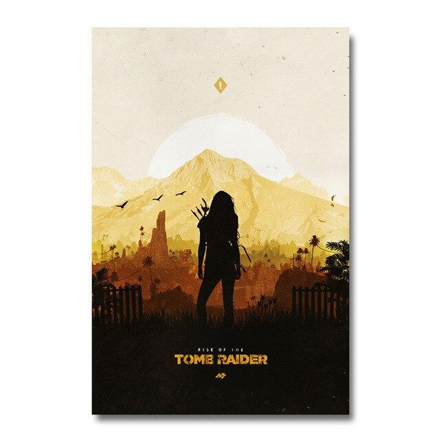 Плакат гобелен Tomb Raider материал Шелк