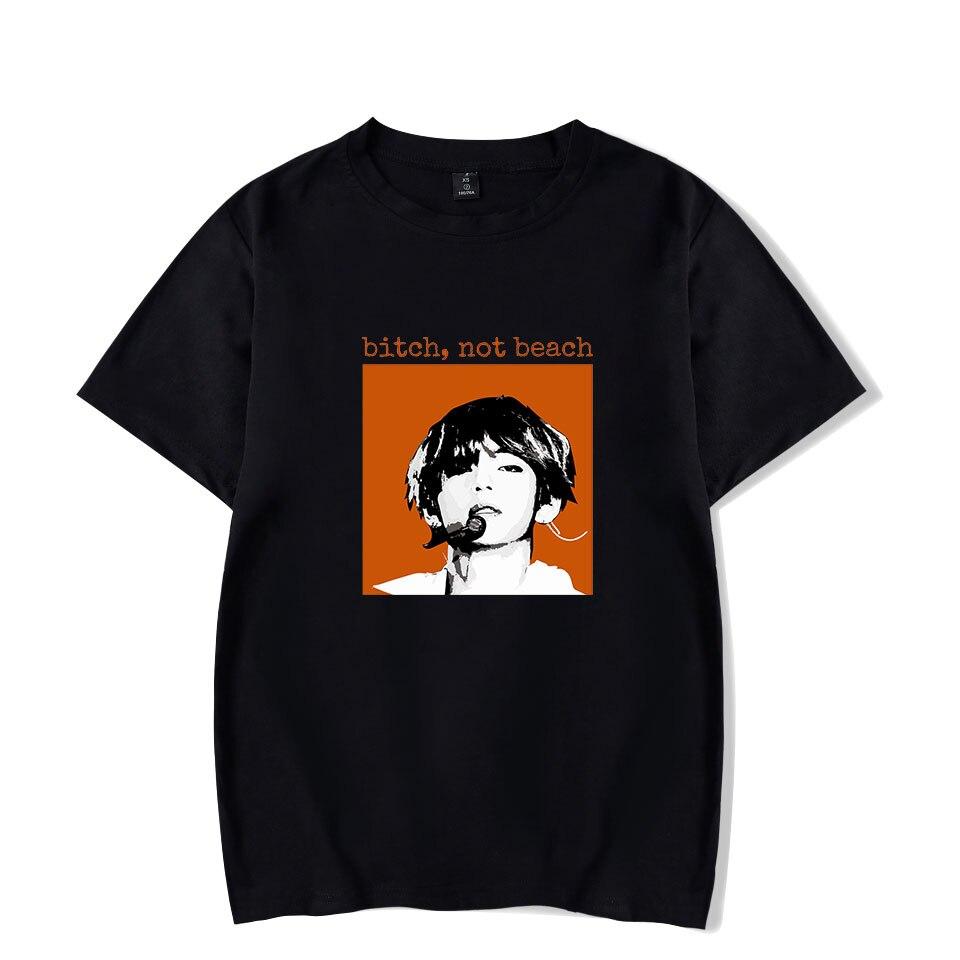 Amar a Si Mesmo Fãs Kpop Verão Camisetas Mulheres T de Alta Qualidade Hip Hop Kpop Curto Ocasional Tops Manga tee