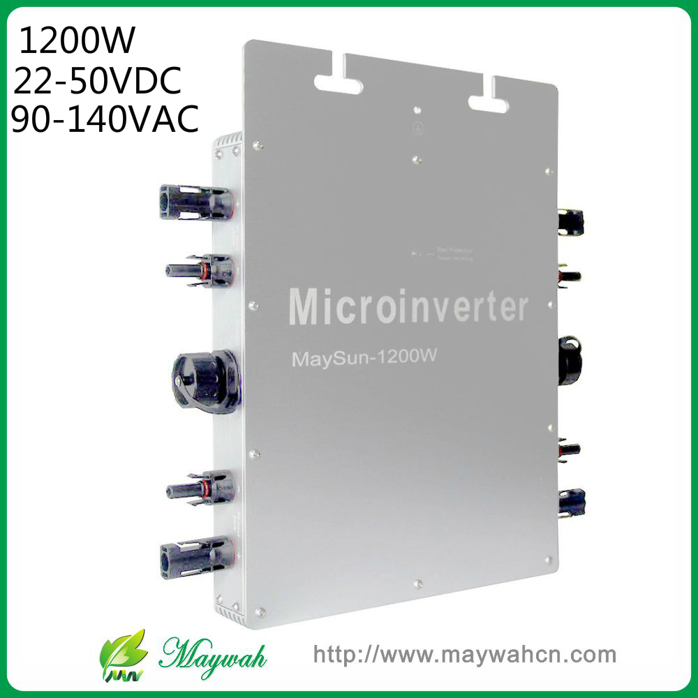 MaySun 1200W Waterproof Solar Power Micro Inverter, 22-50V Micro Grid Tie Inverter with 4 MPPT great efficiency high quality 1200w solar grid tie micro inverter high efficiency