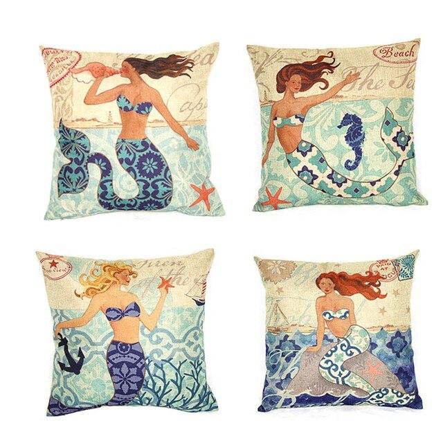 Sirena/pulpo asiento Cojines sin núcleo marino decorativas ...