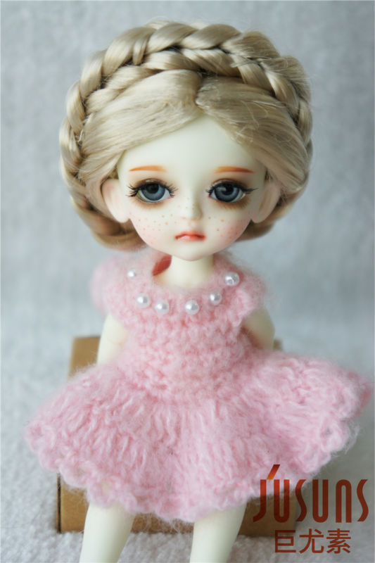 JD101 1/8  doll wigs  Lati yellow  tymoshenko hair style  5-6inch BJD accessories  Synthetic mohair wig