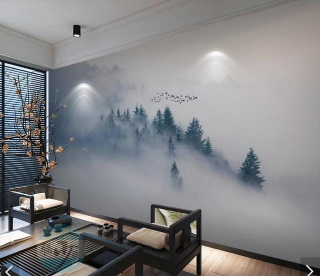3d Misty Mountain Wallpaper Mural Scenery Wall Murals Hd Wallpapers