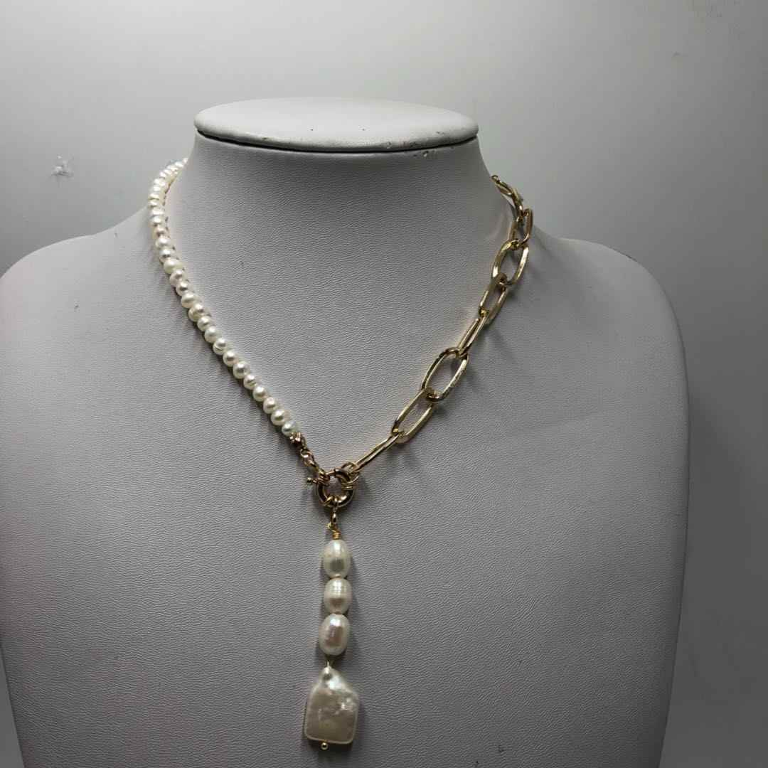 2019 New Bracelet Necklace Suit Freshwater Pearl Makes You Popular For Women