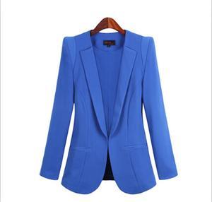 Image 5 - 2020 New Plus Size Womens Business Suits Spring Autumn All match women Blazers Jackets Short Slim long sleeve Blazer Women Suit