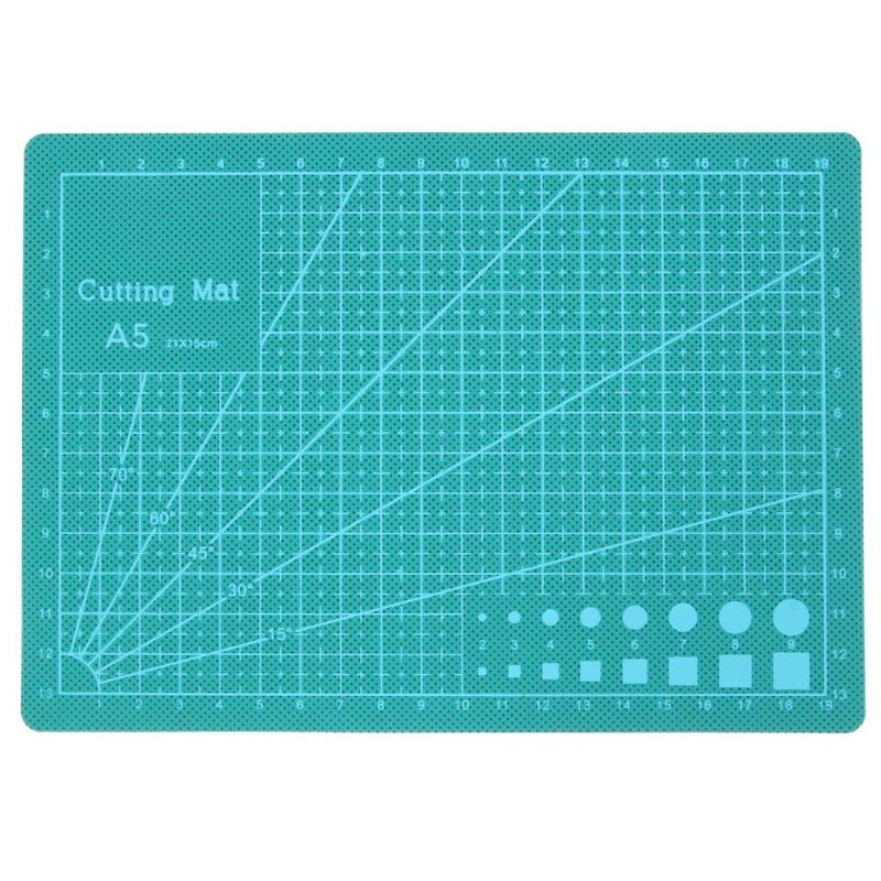 Green PVC A5 Cutting Mat Self-healing Recovery Cutting Pad Grid Line DIY Craft Patchwork Hobby Cut Board Tools for Fabric Paper a2 mint green pvc cutting mat self healing cutting mat patchwork tools craft cutting board cutting mats for quilting