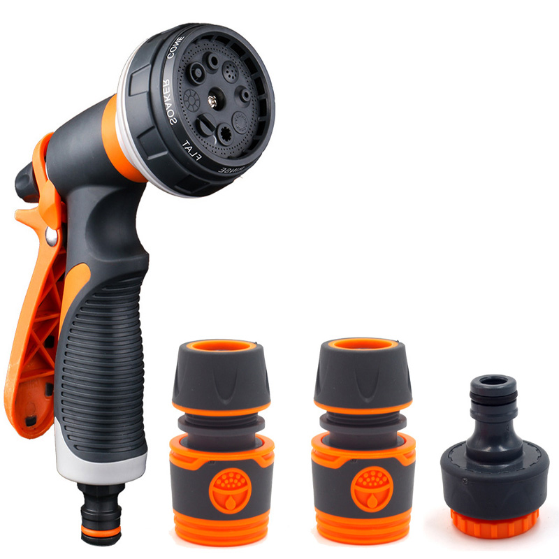 Garden Washing Cleaner High Power Pressure Car and Hose Nozzle Washer Water Spray Gun with Quick Connect Adapters Faucet Connect