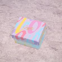 5 шт/лот ретро модная Милая коробка из крафт бумаги для ювелирных