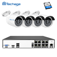 H 265 8CH 4K 48V POE NVR CCTV System 4PCS 4 0MP POE IP Camera 2592