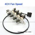 4 Канала 3-контактный 3Pin PCI Вентилятор Охлаждения Контроллер Скорости Поддержка Выключить Вентилятор для ПК dc 12 В