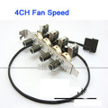 4Channel 3-Pin 3Pin PCI Cooling Fan Speed Controller Support Turn Off Fan for PC dc 12v