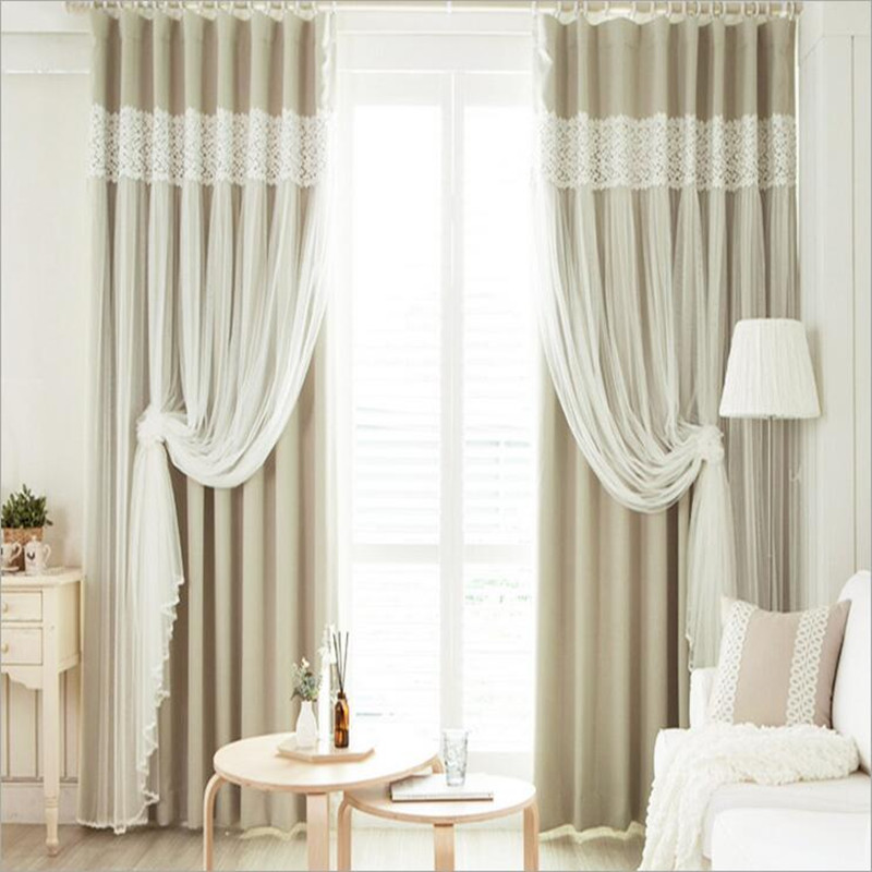 Hot Sale Double Curtain Lace Curtain European High grade Blackout Window tulle Curtain for