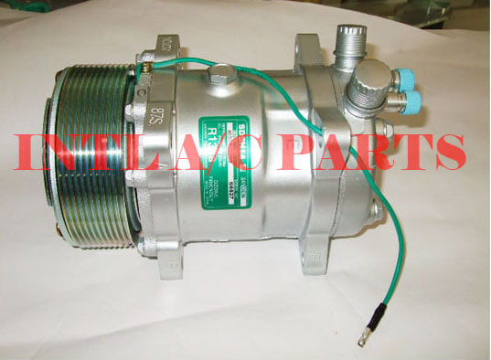 US $56 0 |Universal air conditioner a/c compressor for SANDEN SD5H14 508  5415 9513 SD508 10pk 24V/12V 125mm -in Air-conditioning Installation from