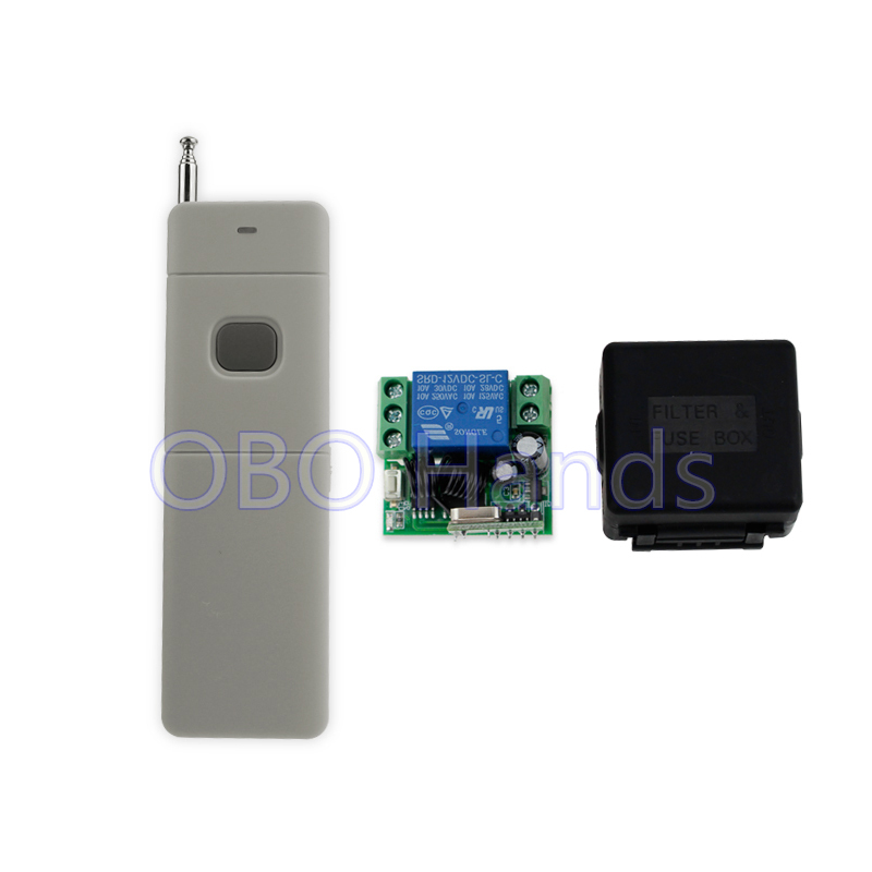 Long distance 200M 315 433MHz 12V wireless remote control switch with receiver free shell for access