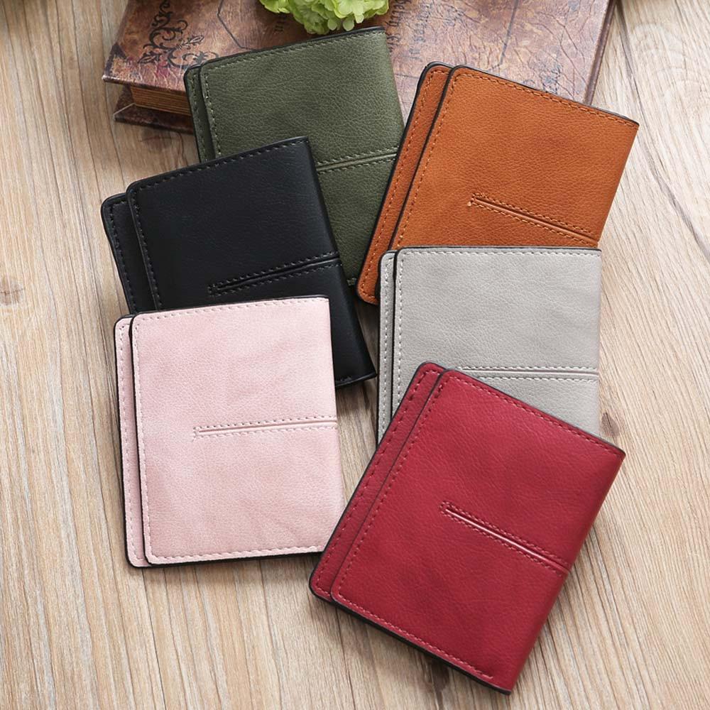 Women Retro Short Wallet Coin Purse Card Holders Handbag wallet female luxury purse women wallets ladies wallet and purses