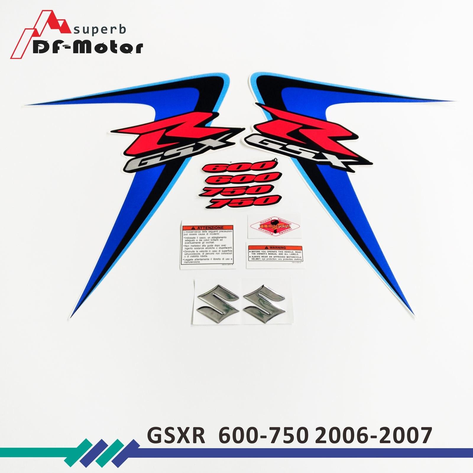 New for Suzuki GSXR GSX-R GSX R 600 K6 2006 MOTO High Quality Decals
