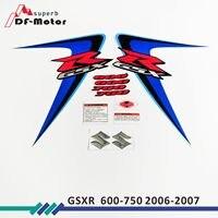 New for Suzuki GSXR GSX R GSX R 600 K6 2006 MOTO High Quality Decals Sticker Motorcycle Car styling Stickers More K6 K8 K11 K7