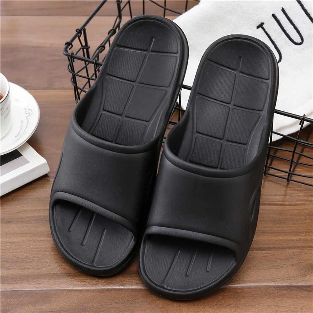 Zapatillas de sandalia de la piscina de la ducha de los hombres zapatillas suaves Ultra ligeras de la manera del estudiante del baño de la manera delgadas Puls tamaño suave ocio cómodas zapatillas