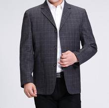Male lattice suit quinquagenarian men's clothing business men casual suits autumn and winter costume homme plus size S – 3XL