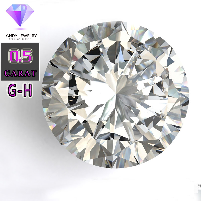GH color 5.0mm Round White Moissanite Stone Loose Moissanite Diamond 0.5 carat for  DIY RingGH color 5.0mm Round White Moissanite Stone Loose Moissanite Diamond 0.5 carat for  DIY Ring