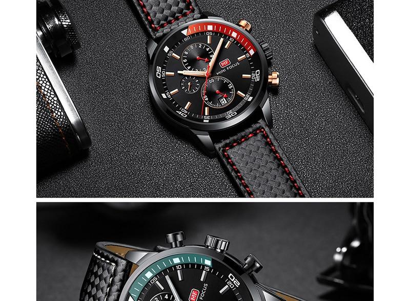 Watches Men 2019 Luxury Brand MINI FOCUS Quartz Fashion Leather Watch Man Chronograph Male Wristwatch Men relogio masculino 2018 (11)