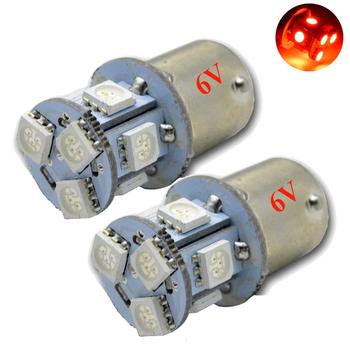 4pcs Red p21w led 8SMD 1156 ba15s 6v 12v 24v 5050 DRL bulb RV Trailer Truck car styling Light parking Auto led Car lamp