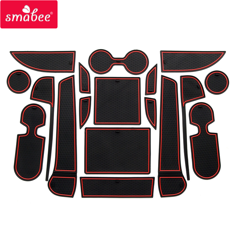 Smabee Gate Slot Mats For Mazda CX-8 CX-9 2017-2019 Non-slip Interior Door Pad/Cup Non-slip Mats 18pcs