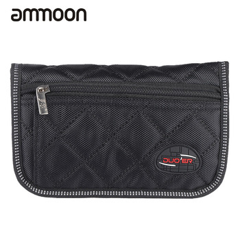 Durable Trombone Euphonium Trumpet Mouthpiece Pouch Bag with 4 Soft Compartments Black Woodwind Instrument Parts & Accessories image