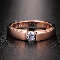 Classical Wedding Ring With A Synthetic Diamond White Gold Rose Gold Color Wedding Brand Ring For