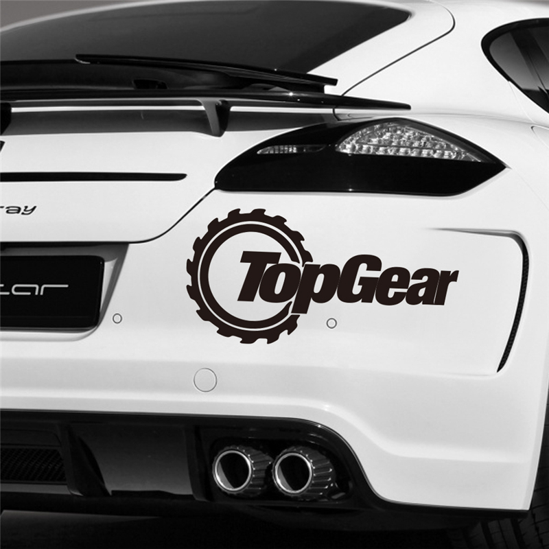 Creative topgear letters black vinyl car art decals living room home decorations adesivos de parede diy stickers in wall stickers from home garden on