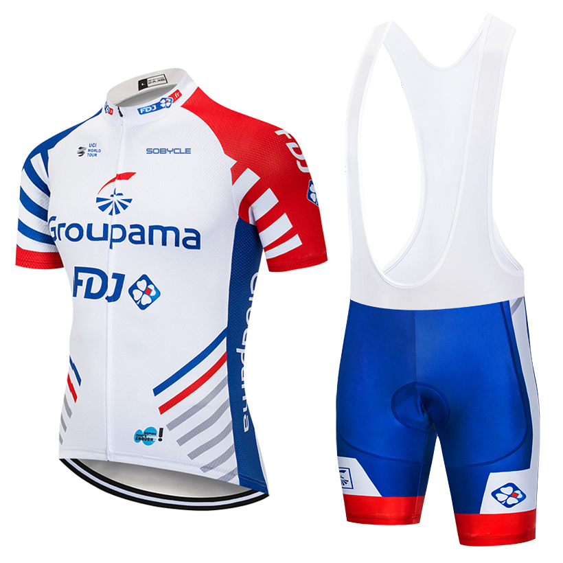 UCI team 2018 FDJ cycling jersey Bike shorts set MTB mens summer ropa ciclismo cycling wear pro BICYCLE Maillot Culotte veobike 2018 pro team summer big cycling set mtb bike clothing racing bicycle clothes maillot ropa ciclismo cycling jersey sets