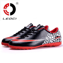 LEOCI 2016 Adult Men Soccer Cleats Turf Football Boots Shoes Hard Court Outdoor Soccer Training Sneakers Trainers Chaussure Foot